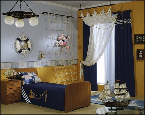 Design ideas for your kid s room marble mosaics blog for Boys pirate bedroom ideas