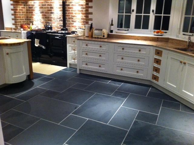 Slate floor tiles for kitchen