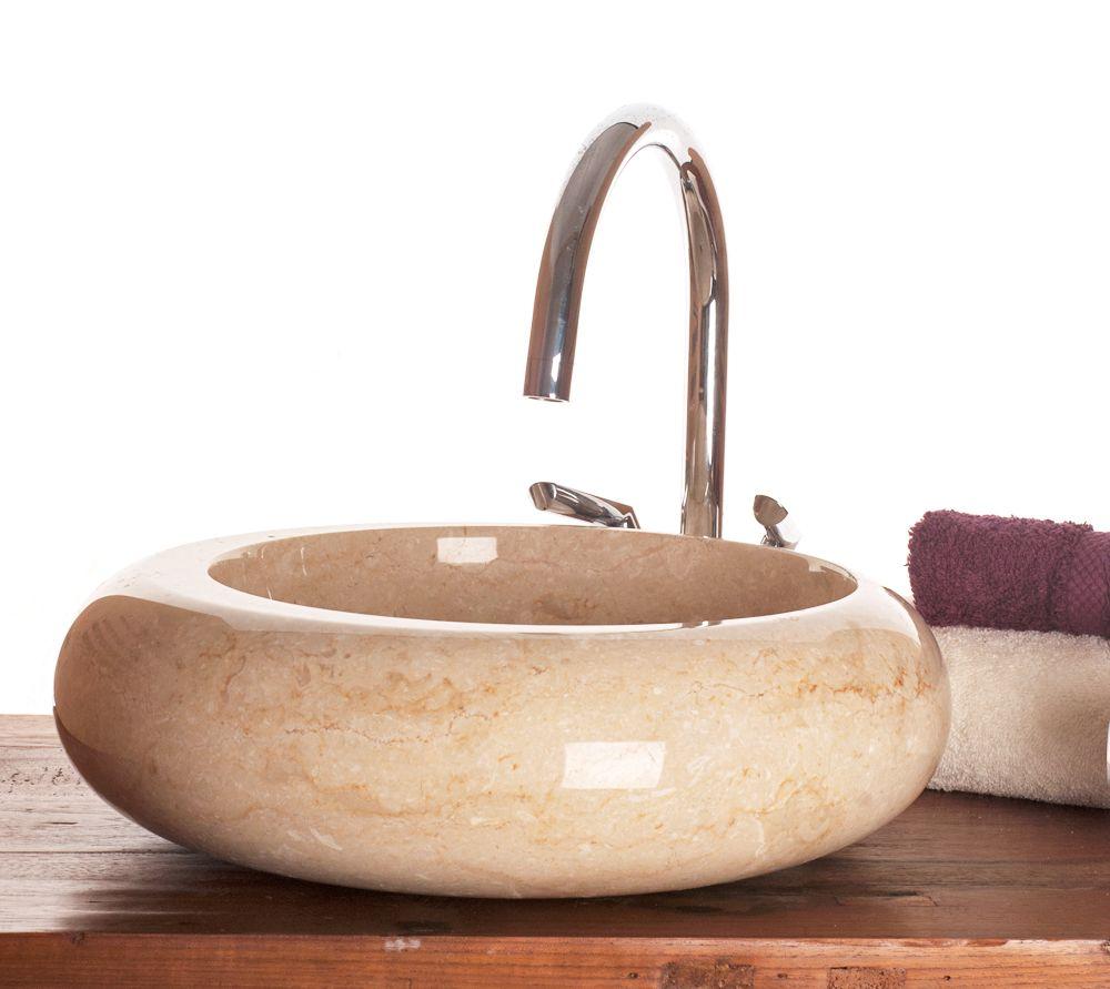 Cream Granite Sink : Napoli Cream Marble Stone Sink 40 cm ( wa035 )