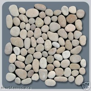 Asian tan natural pebble tile