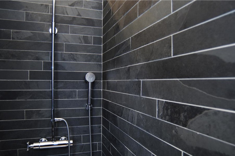 black slate tile bathroom honed black slate strips 600 mm x 60 mm 17417